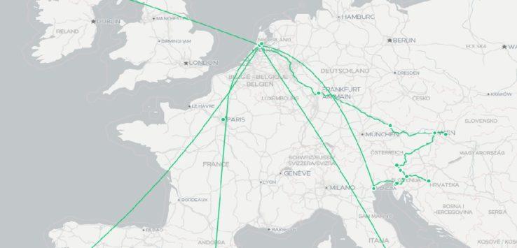 Eurotrip 2019 map