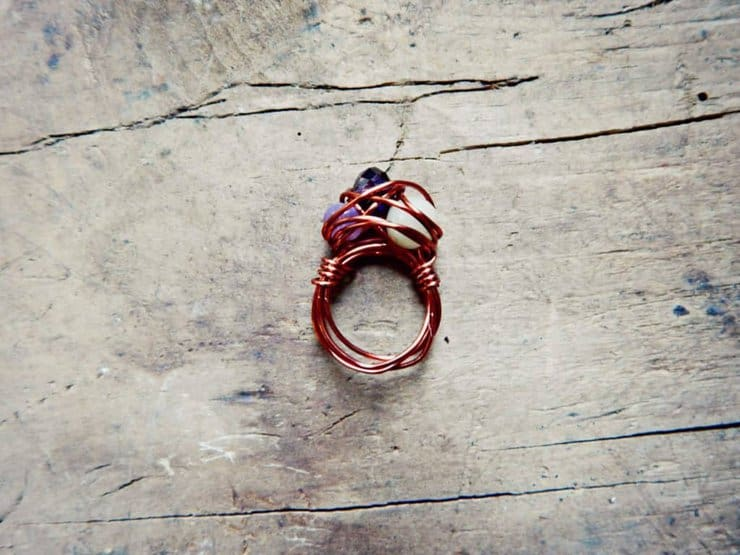 wire wrap ring 10