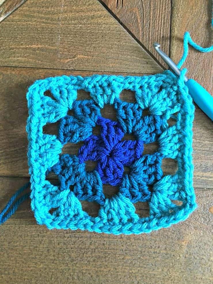 crochet granny square banner