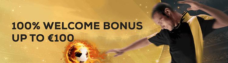 Sportsbook 100% welcome bonus