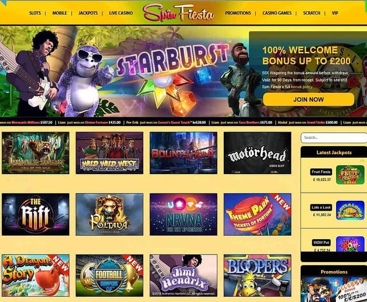 Spin Fiesta Casino Review