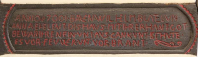 """Inschrift """"Blettelsches Hofgut"""""""