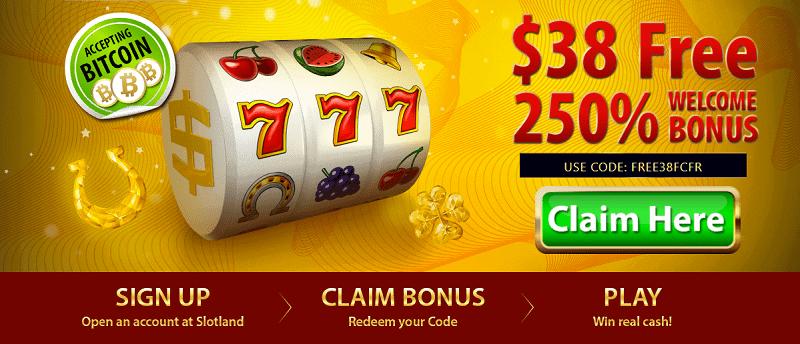 Slotland Casino Bonus Code and Free Chip