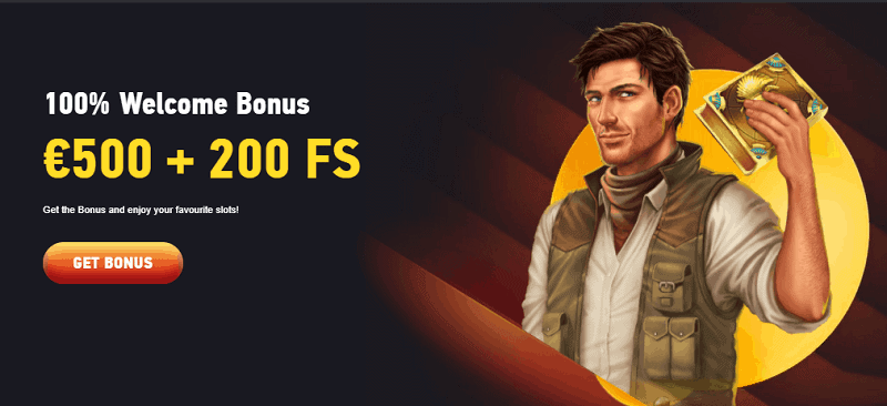 200 free spins and 500 EUR welcome bonus