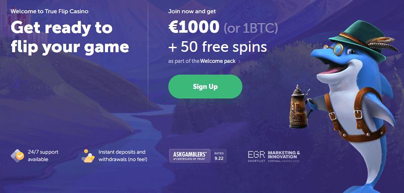 True Flip Casino Welcome Bonus and Free Spins