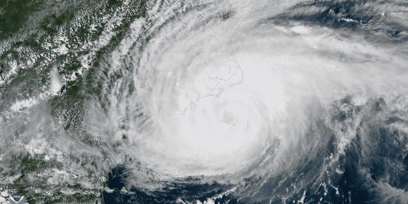 NOAA.gov image of Hurricane Florence Satellite View
