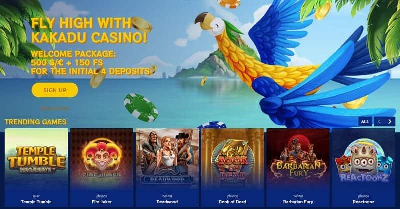 Kakadu Casino Bonus on First Deposits