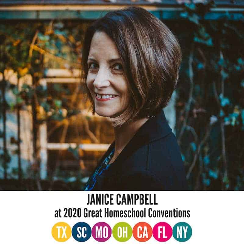 Join Janice Campbell for the Homeschool 101 track at GHC!