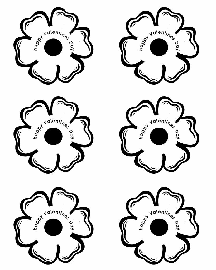 free lollipop flower printable