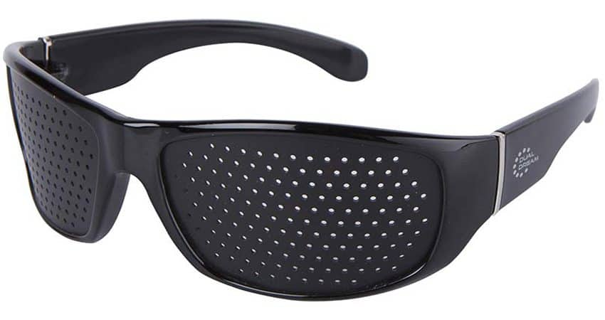 Dual Dream ® Occhiali stenopeici Fasciante black | Dispositivo medico occhiali forati bates
