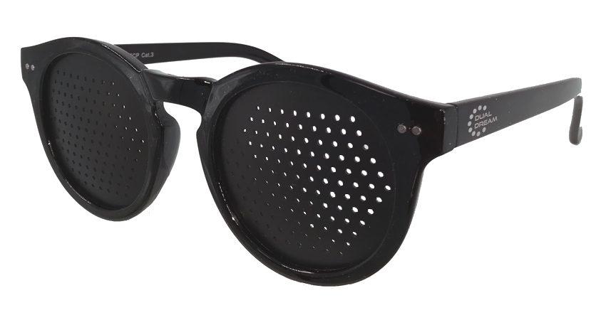 Dual Dream ® Occhiali stenopeici Lettura black grande