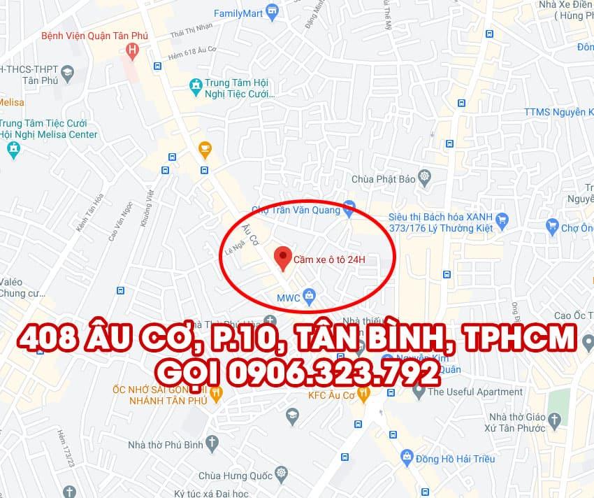 cầm ô tô tại tphcm - 408 Âu Cơ, Tân Bình, TPHCM - ảnh google map