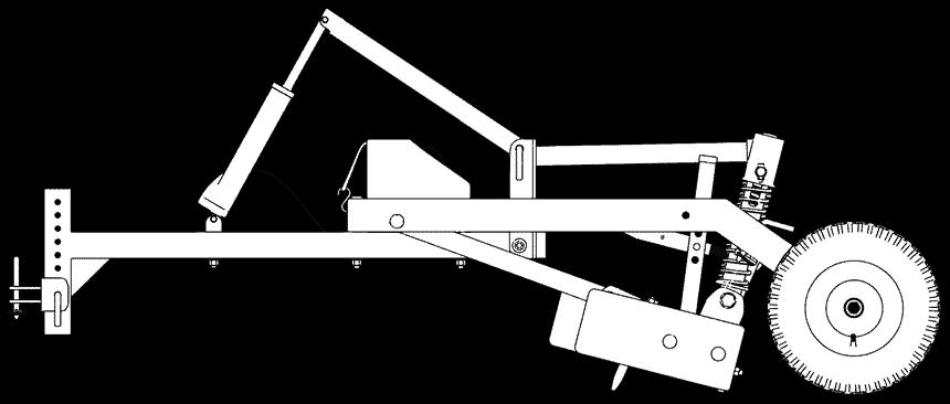 Gravel Grader Line Drawing