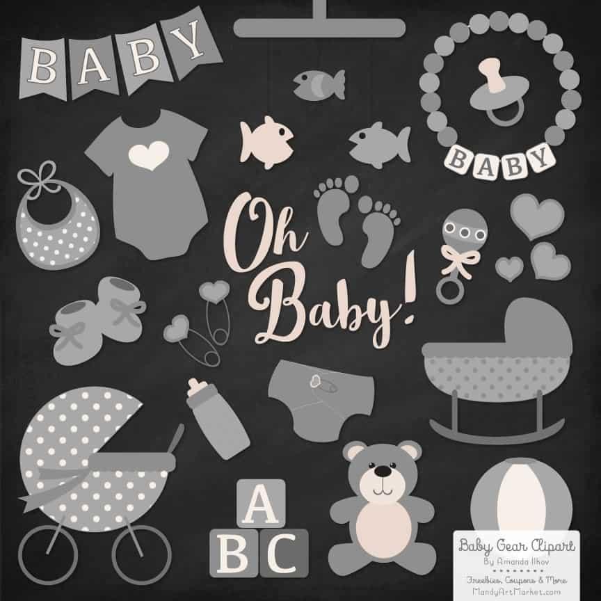 Grey Baby Clipart