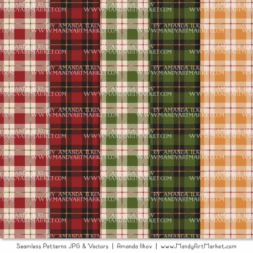 Christmas Cozy Plaid Patterns