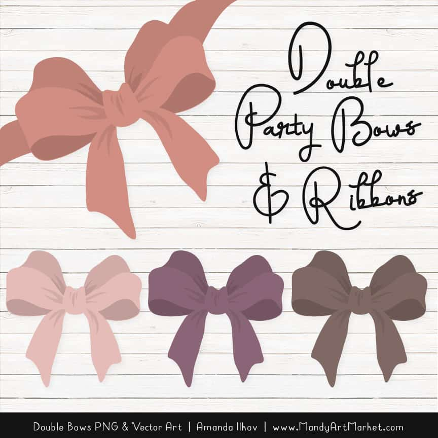 Free Buff Party Bow Clipart