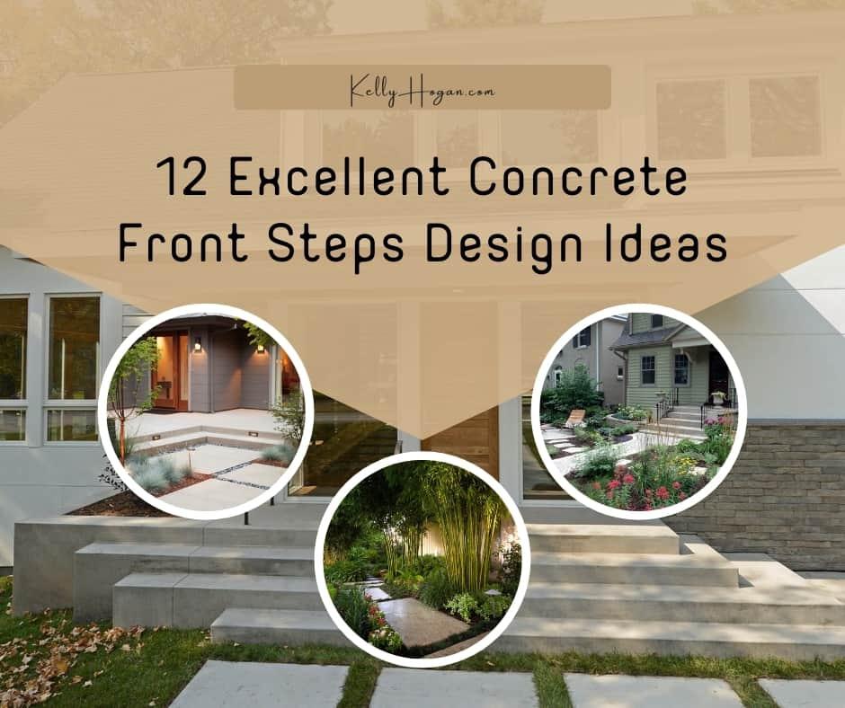 12 Excellent Concrete Front Steps Design Ideas To Inspire Your Dream Home