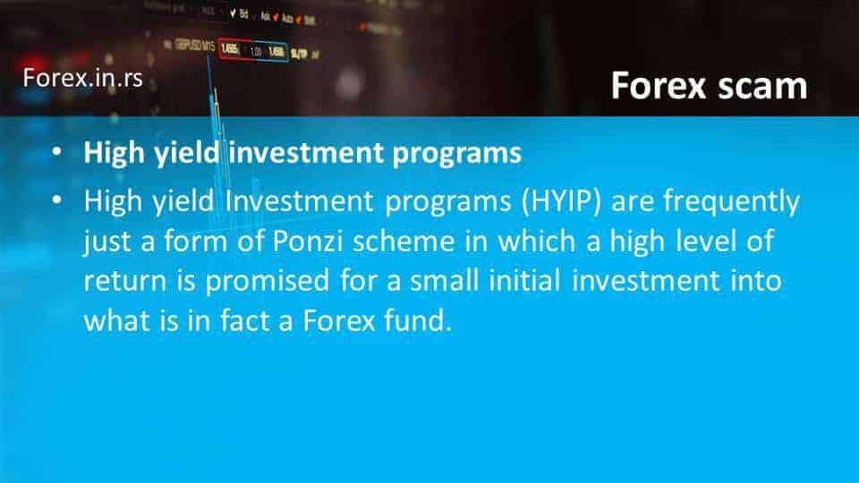 investment program scam