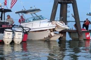 Boat Crashes into Middle River Daymarker, Badly Injuring Two People