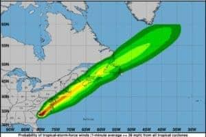 Tropical Storm Elsa Predictions for Chesapeake Bay