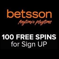 Betsson Casino 100 free spins and $1000 free bonus