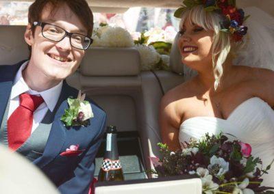 Wedding car at work