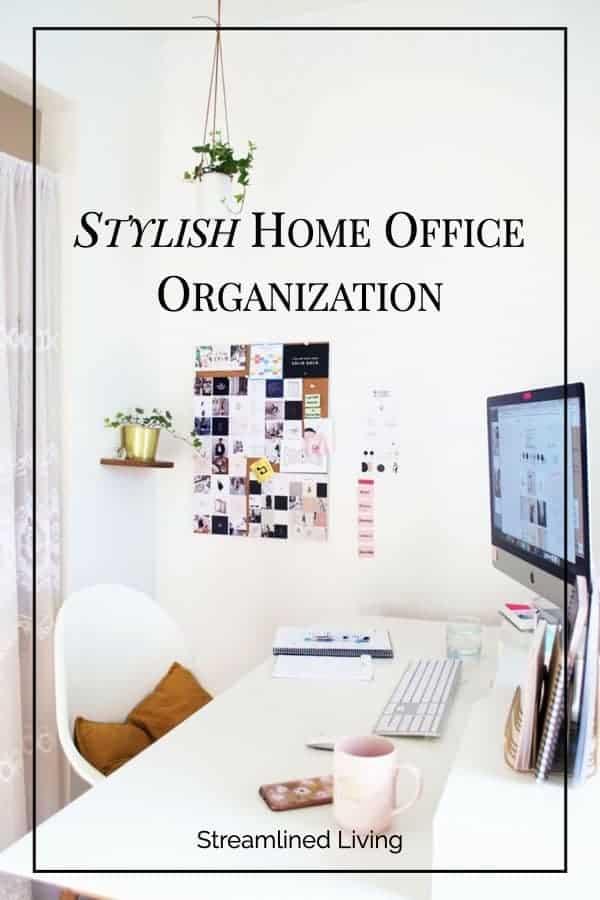 Stylish Home Office Organization