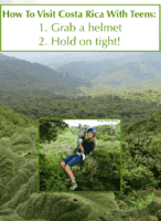 Costa rica is a great vacation destination for families with teens because of its many adventure activities including zip-lining and jungle horseback riding.