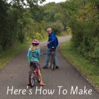 Tips for biking with kids on vacation. How far to ride, what to bring, how to choose a bike rack and more. #tips #biking #cycling #kids #family #travel #vacation