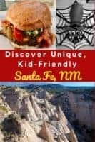 Santa fe, new mexico has more things to do with kids than you might expect. From meow wolf to canyon road to its many old town restaurants, here were our top activities and places to eat. #santafe #nm #thingstodo #kids #vacation #weekend #ideas #planning #canyonroad #meowwolf #restaurants #oldtown