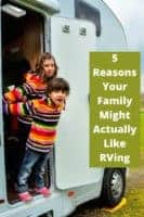 5 facts about rv travel that might surprise you. Maybe you should reconsider a motorhome vacation this year! #rv #travel #motorhome #vacation #kids #travelwithpets #camping