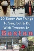 20 fun, cool and unique things to see, eat and do with tweens on a boston vacation. Plus tips for kids and teens. #boston #weekend #vacation #thingstodo #thingstoeat #tips #hotels #restaurants #cambridge