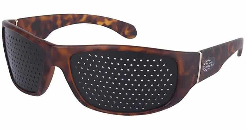 Dual Dream ® Occhiali stenopeici Fasciante Turtle   Dispositivo medico occhiali forati di ginnastica oculare
