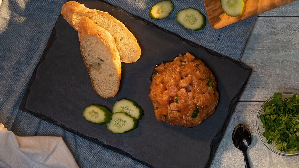 Salmon Cilantro Tartare