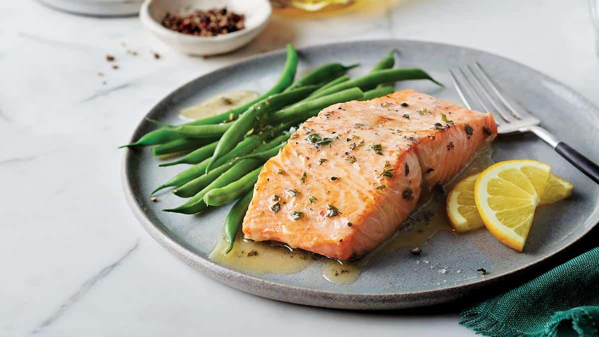 Atlantic Salmon with Lemon Herb Butter