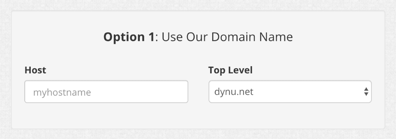 Enter your desired hostname in Option 1.