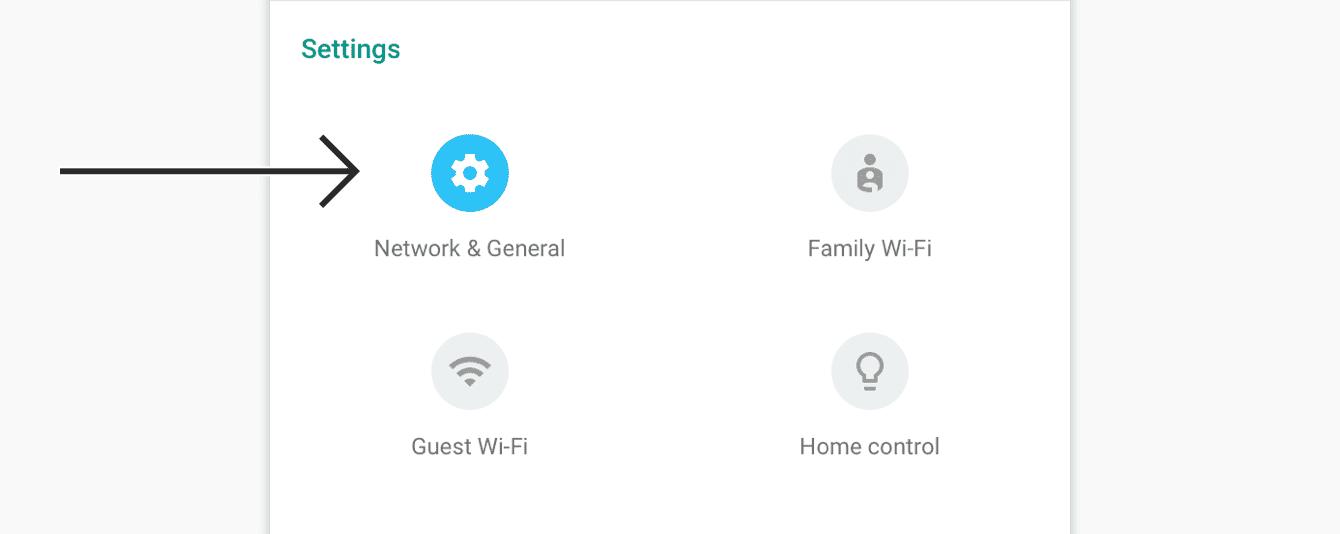 "Tap ""Network & General."""