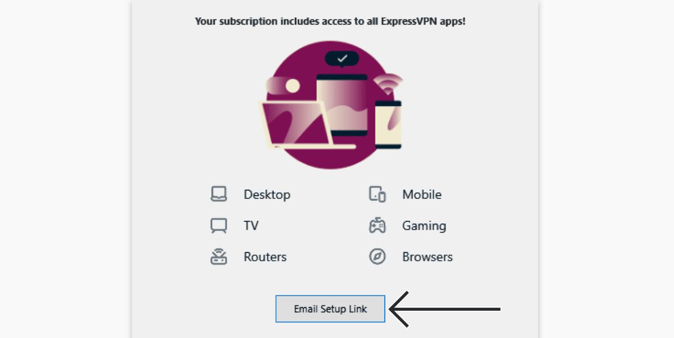 """Click """"Email Setup Link."""""""