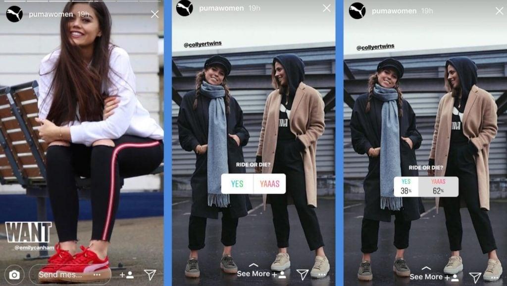 Instagram stories by puma woman