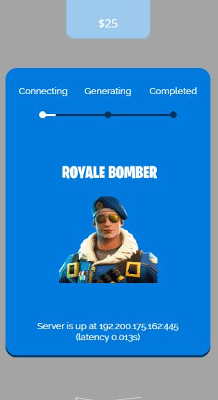 royale bomber skin process