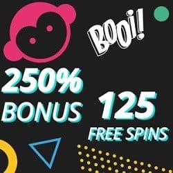 Booi Casino 125 Gratis Spins 250 Bonus 600 Gratis