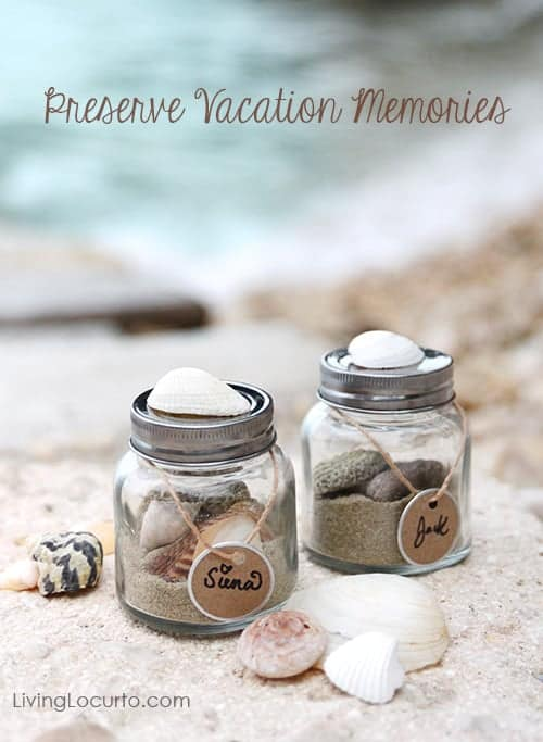 Memory Sand Jars Beach Vacation Keepsake Kids Craft Idea