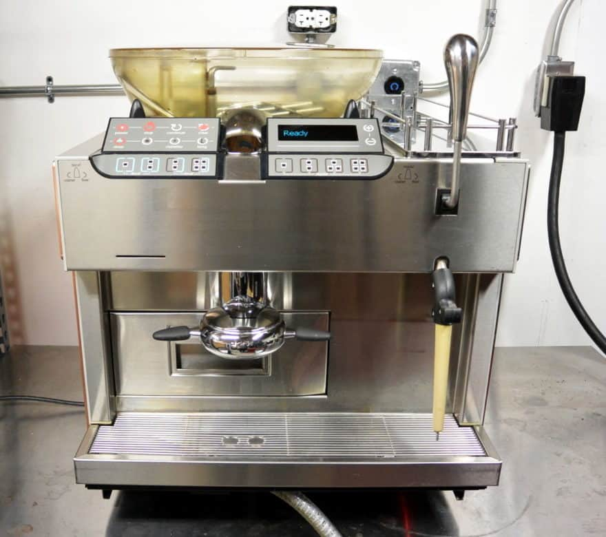 picture of the  mastrena coffee machine used by Starbucks with its popular 6-pound hopper