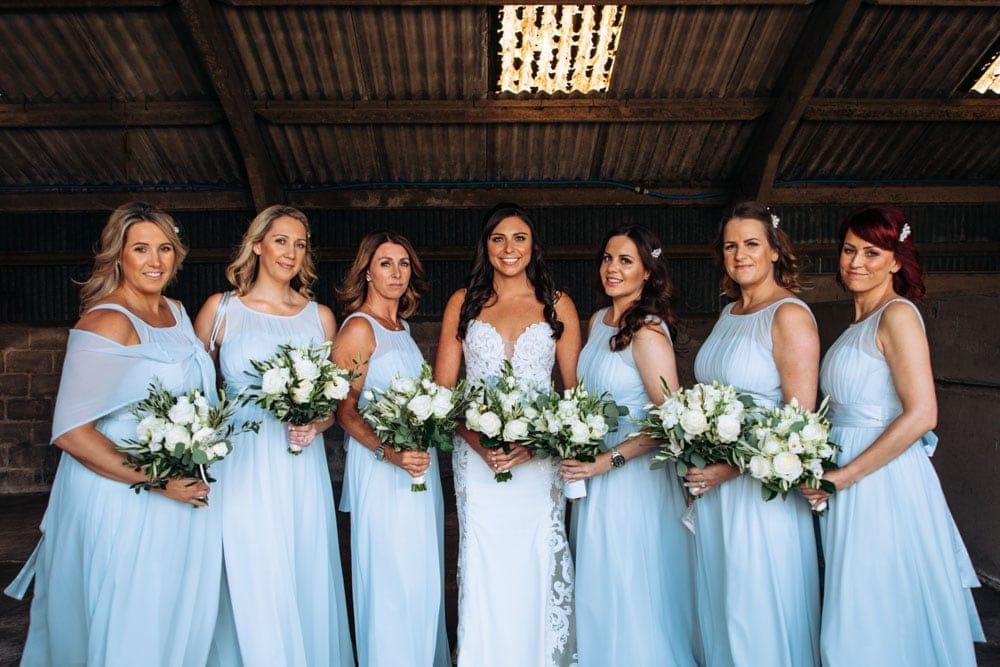 Bridesmaids at Dove Barn Knutsford