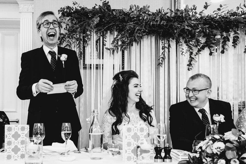 Manchester Wedding Photographer Portfolio Image of Speeches