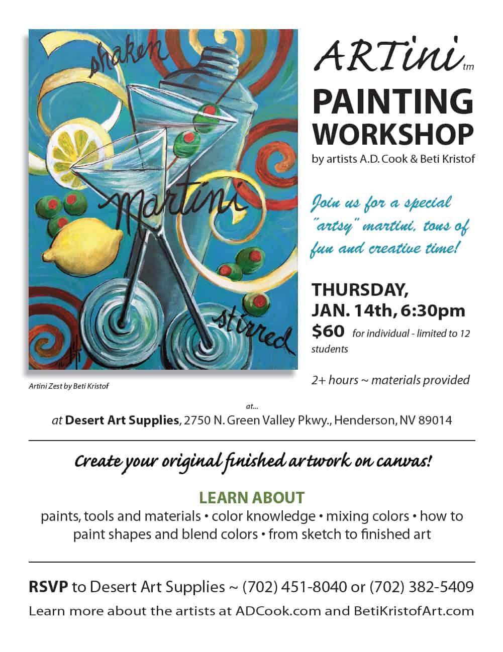 Artini Painting Workshop 011416, Las Vegas, NV
