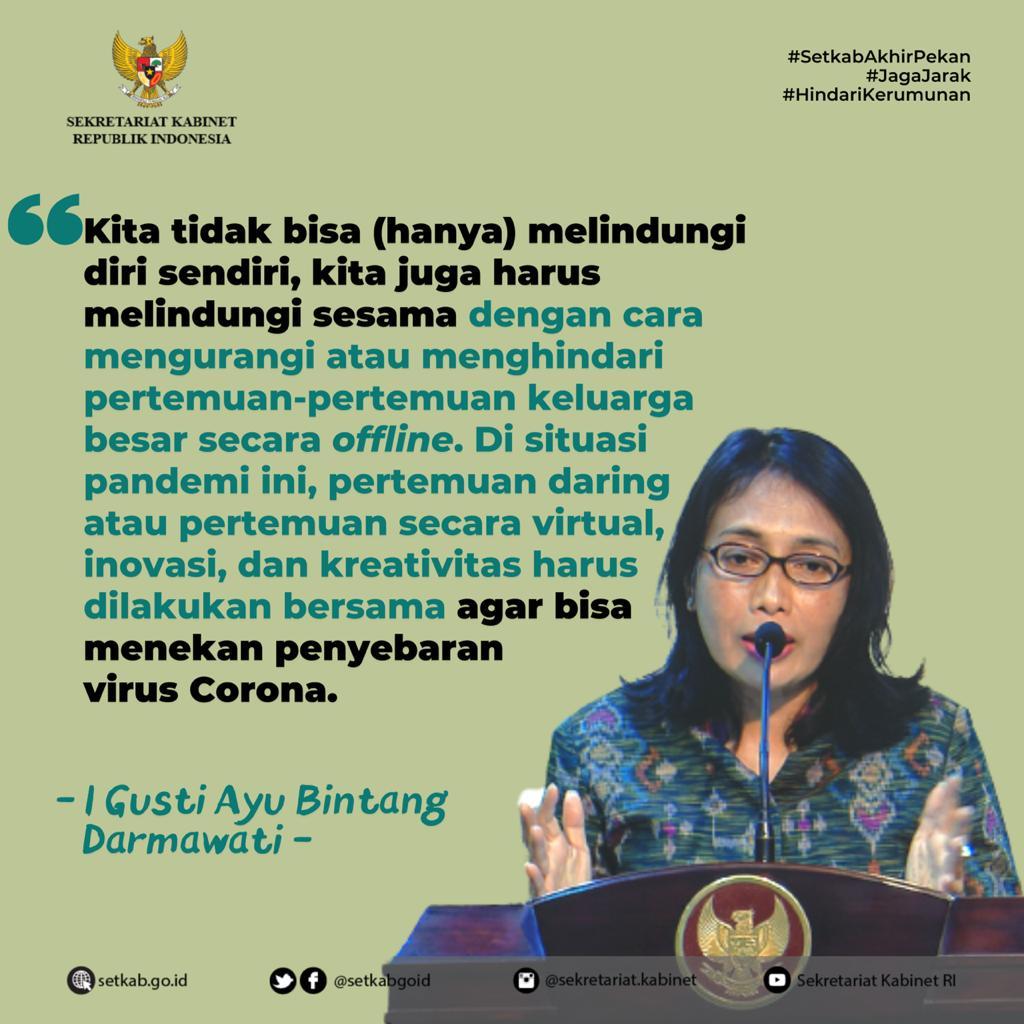 Pesan Menteri PPPA terkait Penekanan Penyebaran Penularan #COVID19