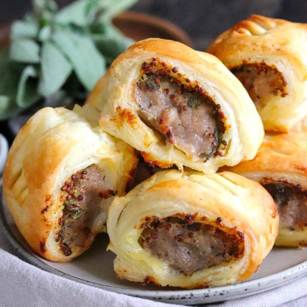 mustard and sage sausage rolls