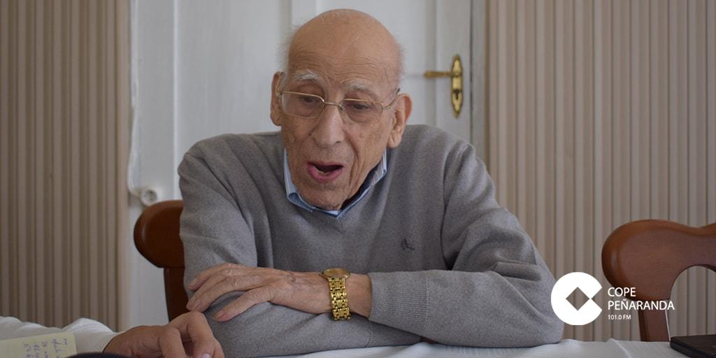 El sacerdote peñarandino, Antonio Marcos, durante una entrevista el pasado mes de junio.