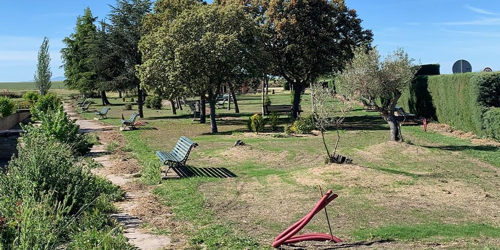 El parque municipal está ubicado en la entrada del municipio